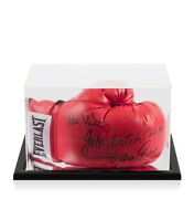 Multi-signed Signed Everlast Boxing Glove - Minter Conteh Magri Green - In Ac