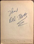 Del Moore And Lauren Chapin Dual Autographed Signed Vintage 1950s Album Page