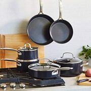 Hard Anodized Healthy Ceramic Nonstick Cookware Pots And Pans Set 10piece Black