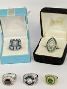 Five Costume Jewellery Bling Rings