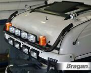 To Fit Volvo Fh Series2and3 Globetrotterxl Black Roofbar + Led +spot +beacon +horn
