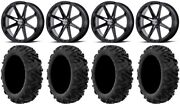 Msa Black Diesel 20 Utv Wheels 34 Moto Mtc Tires Can-am Maverick X3