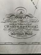 Lewis And Clark Track Map Of The United States 1804,5,and6. Antique History Usa