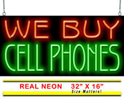We Buy Cell Phones Neon Sign | Jantec | 32 X 16 | Pawn Shop Telephone Smart