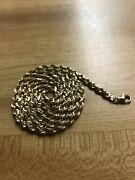 Real 14kt Solid Yellow Gold 4mm Rope Chain Diamond Cut 24 22.2 Grams Peruvian