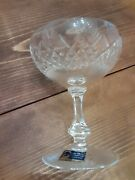 Lausitzer Lead Crystal German Hand Cut Clear Set Of 6 Wine Glasses.