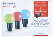 Lumations Holiday Symphony 15.8ft 20ct G35 Multicolor Led Music Light Show Comp.