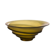 Daum Olive Green Bowl By Christian Ghion Brand New 05574-1