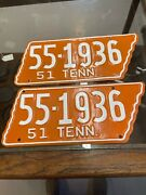 Tennessee License Plate State Shaped