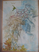 Pang Tseng-ying Chinese Listed Watercolor Signed Framed Figures Landscape Asian