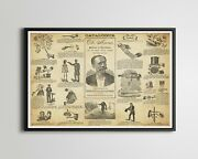 1884 Magic Trick Catalogue Poster Up To 24 X 36 - Magician - Tricks - Stage