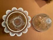 Northwood Opalescent White Glass Sea Shell Candy Dish