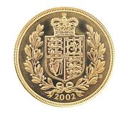 2002 Queen Elizabeth Ii Shield Back Full Sovereign Coin With A Original Box