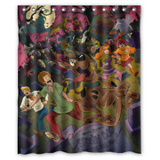 New Scooby-doo Where Are You Print Polyester Waterproof Bathroom Shower Curtain