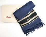 New 729,00 Brioni Luxury Scarf 100 Cashmere Made In Italy Scb5
