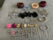 Joblot Costume Jewellery Rings And Bangles And Earrings
