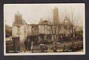 Norfolk Norwich Old Lakenham The Cock Great Fire Ruins 1908 Real Photo .. Fault