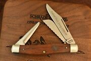 Schrade Made In Usa 1998/99 Duck Stamp Wood Stockman Knife Nice Like 8ot 8090