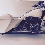 Flow Style Extended Side Cover Stretched Tank Shrouds Bagger Harley Bagger 97-07