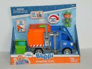 Blippi Talking Recycling Truck Garbage Can Recycle Bin Vehicle + Figure New