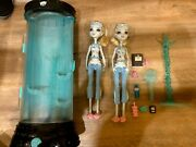 Monster High Dead Tired Lagoona And Hydration Station Lot Retired Rare Htf