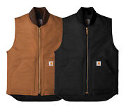 New Mens Arctic Quilt Lined Duck Vest Ctv01 - Pick Color And Size