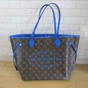 Louis Vuitton Monogram Ikat Flower Neverfull Mm Tote Bag Brown Auth Mm3468