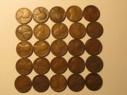 1/2 Roll 1924 S Lincoln Wheat Cents Penny Good Or Better Condition 25 Coins