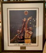 The Final Showdown Game 4 1970 Nba Finals Autographed Framed Lithograph