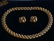 Trifari Alfred Philippe Golden Twist Gold Wash Necklace And Earrings Pat Pend 1949
