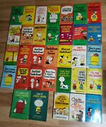Vtg Lot Of 33 Charles Schulz Peanuts Books Snoopy Charlie Brown Comic