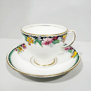 Vintage Sampson Smith Old Royal Teacup And Saucer Pattern 2904