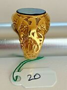 50 Off Appraised Vintage Circa Early 1900 18k Gold Black Onyx Us Navy Ring