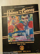 1982 Boxing Programme Larry Holmes V Gerry Cooney- Wbc Heavyweight Championship