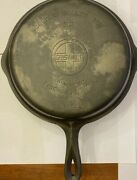 Vintage Griswold 90 Double Cast Iron Skillet 1021 And 1022