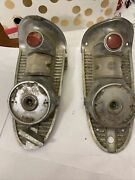 1956 Chevy Tail Lights Housing Assembly With Hide-away Gas Tank Door Vintage 56