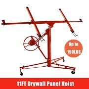 11ft Drywall Panel Hoist Dry Wall Rolling Caster Lifter Construction Tool 150lb