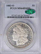 1883-o Morgan Dollar Pcgs Ms64dmpl Cac Liberty And Eagle In Frosty Cameo