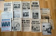 Vintage Newspapers Times / Daily News / Newsday Lot Of 12 Plus Extra's 1974