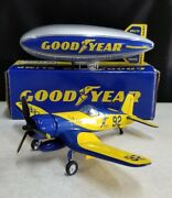 Spec Cast Goodyear Blimp And Fg-1 Corsair Plane Banks Good Used Condition