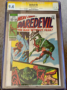 Daredevil 49 Cgc 9.4 Ow/w Pages Ss Signed By Stan Lee 1st Starr Saxon 1969 Nm