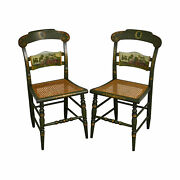 Hitchcock Thomas Jefferson Monticello Limited Edition Painted Pair Chairs A