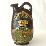 Royal Doulton Kingsware Dewarand039s Whiskey Decanter Flask Lord Nelson Vintage 1935
