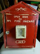 Gamewell Fire Alarm Call Box Style Replica Wooden Ooak Home Made Man Cave Great
