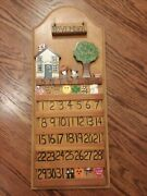 Perpetual Calendar - Wood Hand Crafted Americana Style