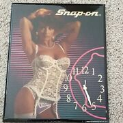 Snap On Collectable Wall Clock By Lock City.    14 X 17 1/2 New