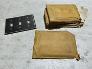 Lot Of 7 Vintage Stainless Steel Wall Switch Plates Toggle 3 Gang, Nos