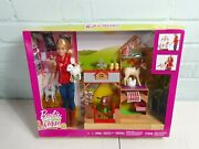 Barbie Sweet Orchard Farm Vet Doll And Animals Playset, Blonde New In Hand 0240