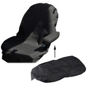 Equipment Seat Cover Low Back Black Canvas Fit For Backhoes Tractors Universal