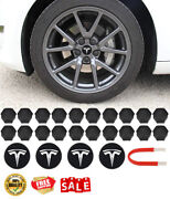 4pc Wheel Center Caps 20pc Screw Caps Set For Tesla Model 3 S X Modification New